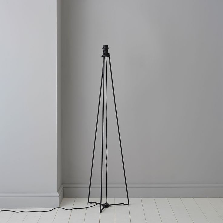 Hioyl Tripod Black Floor Lamp Base | Departments | DIY at B&Q