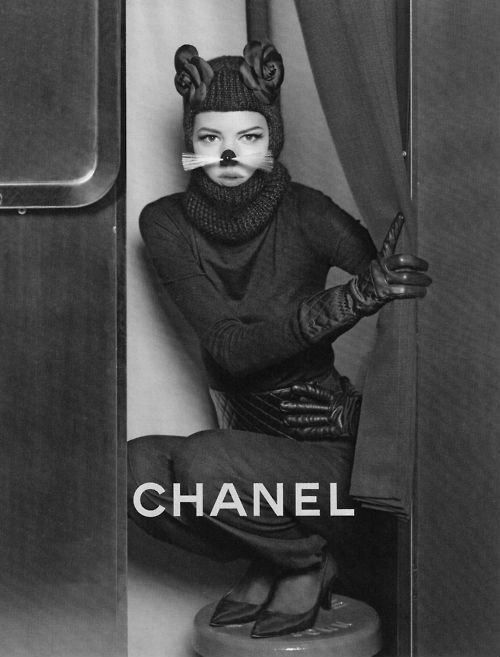 Freja Beha Erichsen for Chanel photographed by Karl Lagerfeld