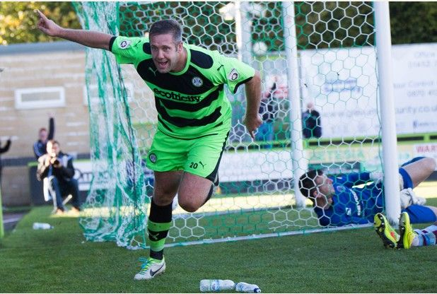 ... Forest Green Rovers striker, has taken step into the Conference in his