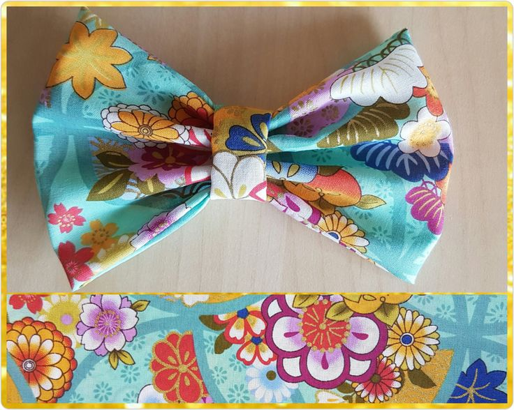 Turquoise floral hair bow  - flower bow - floral bow by BeePiki on Etsy