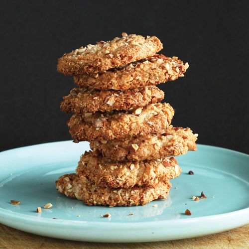 Flourless Almond Cookies -INGREDIENTS: 1 cup organic evaporated cane juice, 2 cups almond flour/meal, 1 tsp vanilla, 1/4 tsp pure almond extract, 2 egg whites, 1/2 tsp ground cinnamon, 1/2 cup finely chopped almonds. (vegetarian, gluten free) CLICK on PHOTO for further instructions.