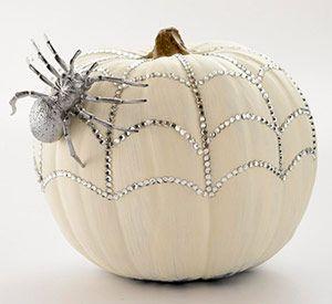 white sequined pumpkin