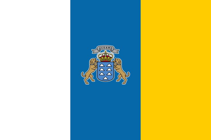 Bandera de la Comunidad Autónoma de Canarias.
