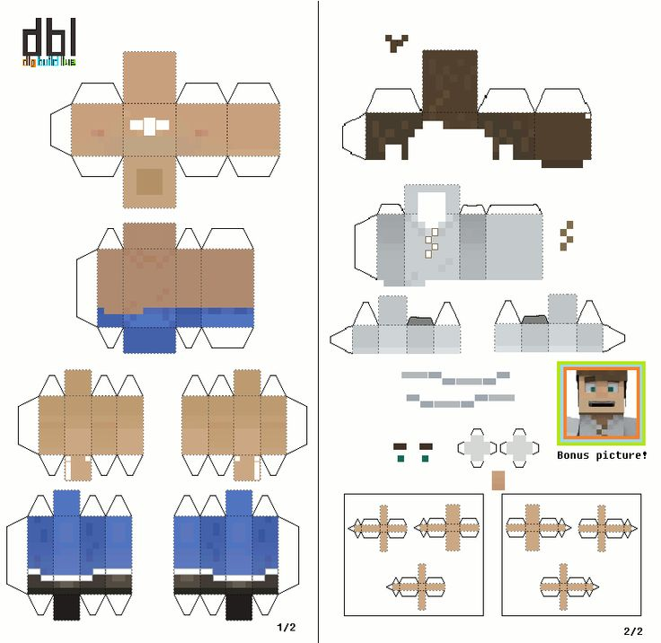 papercraft dig build live player  unofficial template