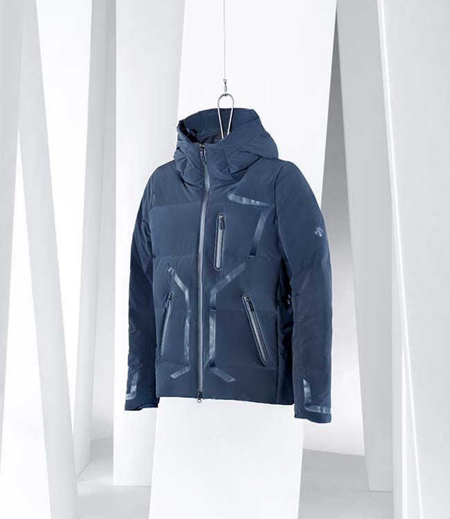 """Superb craftsmanship from our 16FW colletion. MIZUSAWA DOWN JACKET """"Storm"""" Winner of a Glod Award at ISPO 2015."""