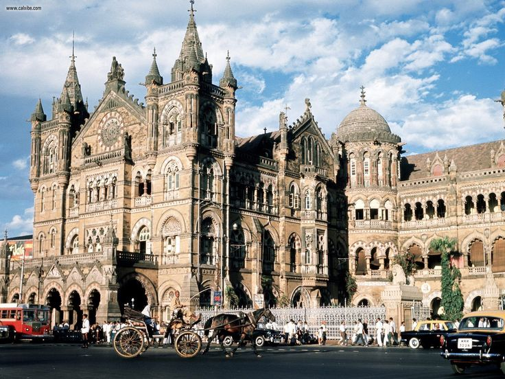 Chhatrapati Shivaji Terminus (Marathi:छत्रपती शिवाजी टर्मिनल), formerly Victoria Terminus, and better known by its abbreviation CST or Bombay VT, is a historic railway station in Mumbai which serves as the headquarters of the Central Railways. It is one of the busiest railway stations in India, and serves Central Railway trains terminating in Mumbai as well as the Mumbai suburban railway, Mumbai, India