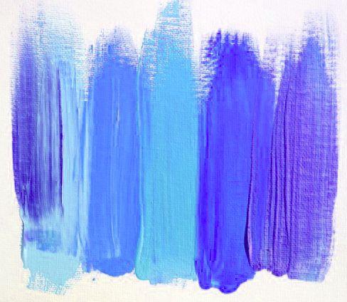 Blue. Teal. Purple. Perrywinkle