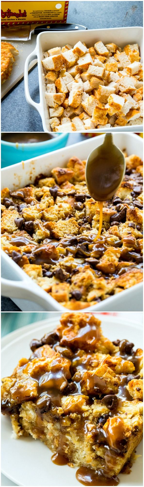 Turn leftover biscuits into this delicious Toffee Bread Pudding.