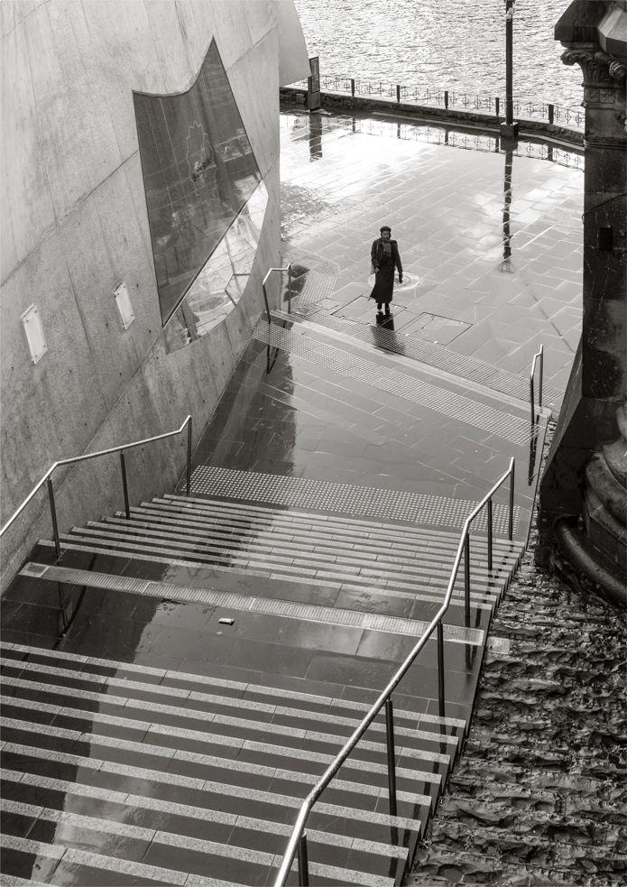 'Steps'. Hamer Hall, Melbourne. © G.C. Campbell.