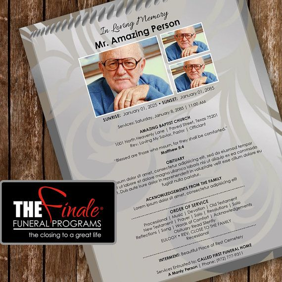 36 best Funeral Program Templates images on Pinterest Microsoft - funeral program template microsoft