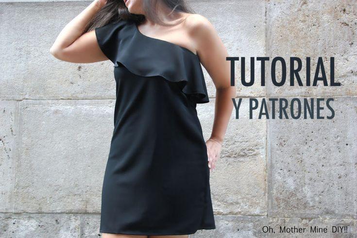 DIY Tutorial y patrones vestido con volante para mujer | Oh, Mother Mine DIY!!