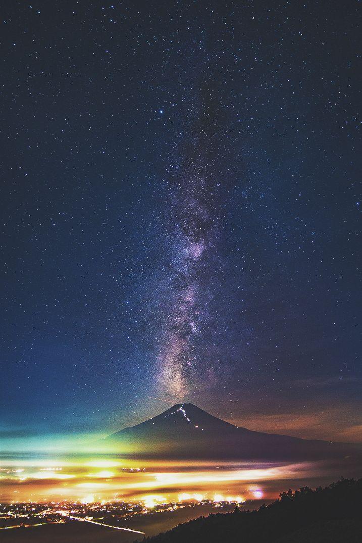 Ponderation — ikwt: Milky way over Mt.Fuji (Nuttapoom...