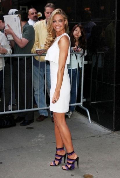 Denise Richards Little White Dress