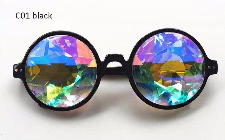 Aimade Glasses Store - Kaleidoscope Sunglasses Men Women Celebrity Party Designer Eyewear Colorful Kaleidoscope Glasses