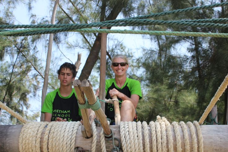 Reeling in the fishing nets! #VietnamSchoolTours #EcoTour