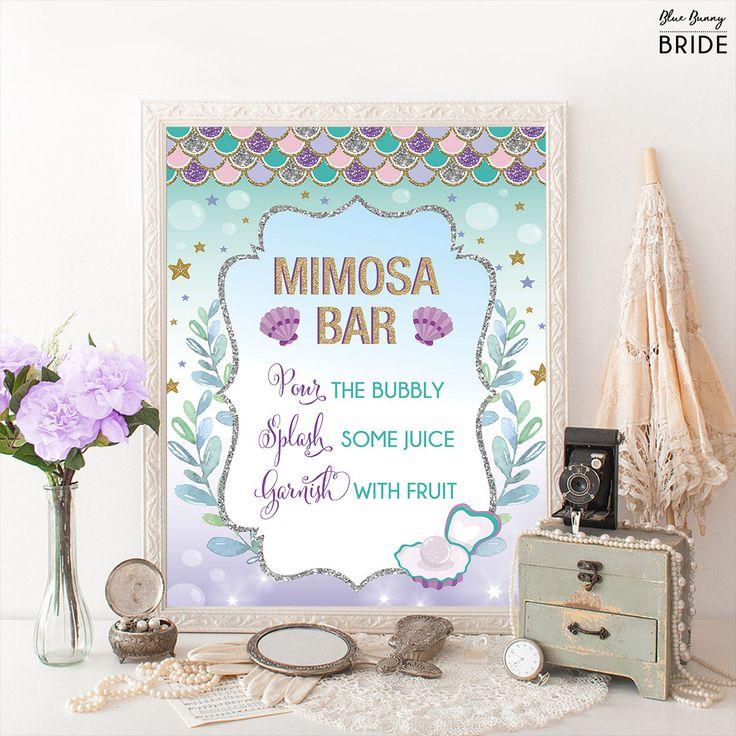 Printable MIMOSA BAR. Mermaid Bridal Shower Sign. Ocean Under Water Sea Coral Bridal Shower Decoration. Purple Gold Wedding Decor Sign. MER4 #babyshowerideas4u #birthdayparty  #babyshowerdecorations  #bridalshower  #bridalshowerideas #babyshowergames #bridalshowergame  #bridalshowerfavors  #bridalshowercakes  #babyshowerfavors  #babyshowercakes