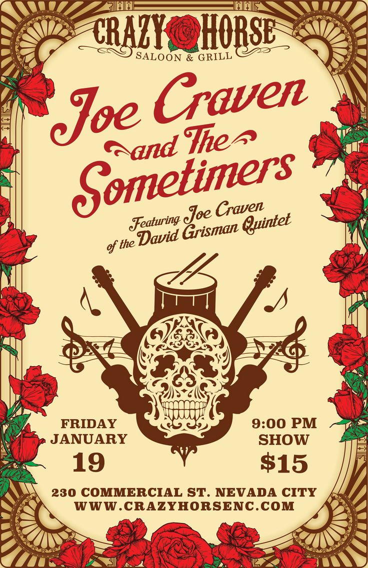 Joe Crave and the Sometimers, Crazy Horse Saloon, Nevada City, Friday, Jan 19th