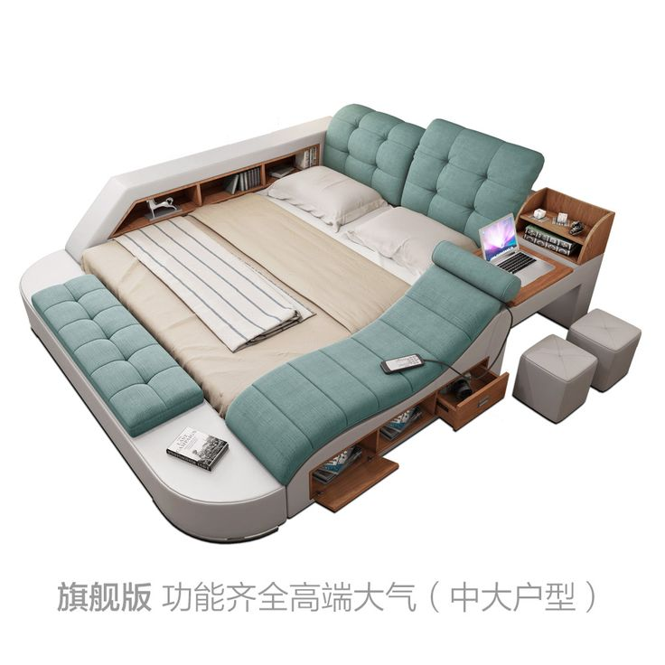 [USD 582.17] Massage tatami bed fabric bed Master bedroom 1.8 meters double bed modern simple multifunctional soft - Taobao agent |Tmall agent - EnglishTaobao.net