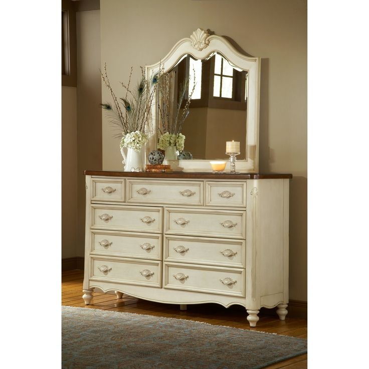 Photo of American Woodcrafters Chateau 9 Drawer Triple Dresser