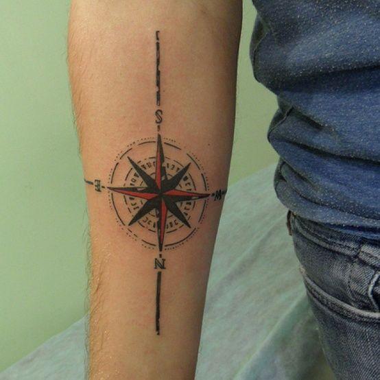 Tatuagem Rota dos ventos