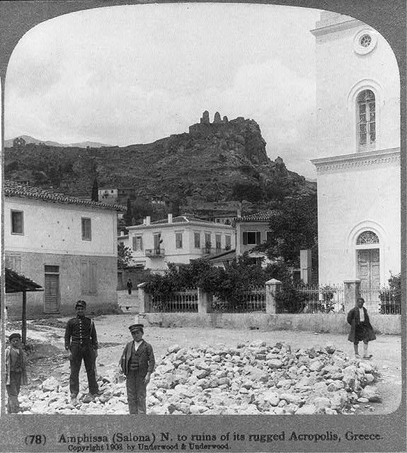 Amphissa (Salona) N. to ruins of its rugged Acropolis, Greece, 1903.