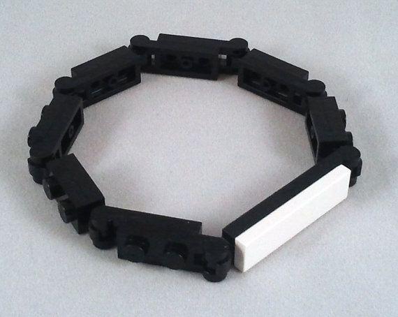 Original men's bracelet made from Legos parts