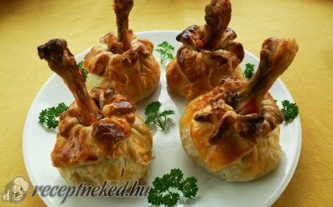 Csirkecombbal töltött batyu recept fotóval