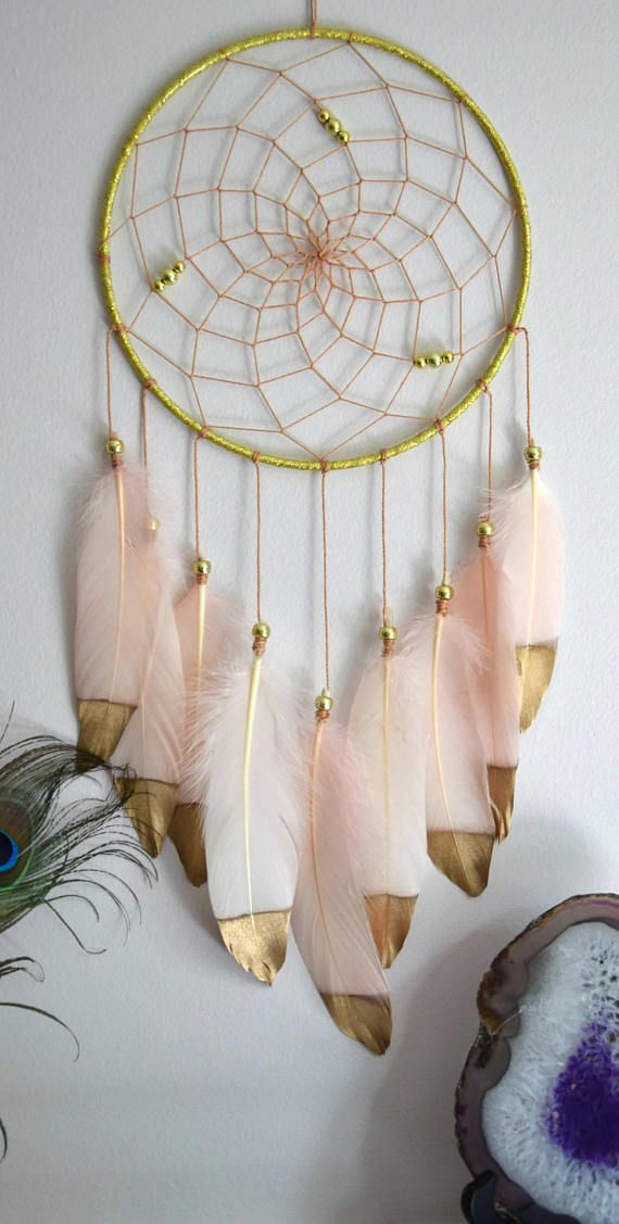 Dream Catcher Blush And Gold Large Dream Catcher  Decor Wall