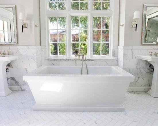 Tinas De Baño Negras:Bathroom Floor Tile Herringbone Pattern
