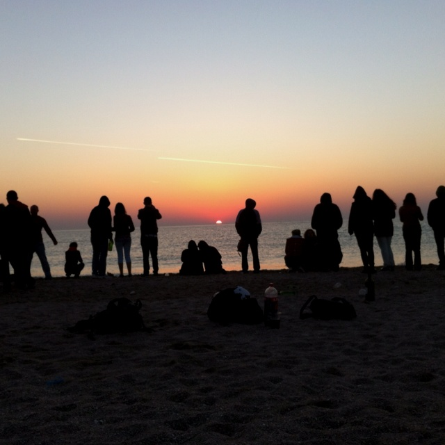 Sunrise in Vama Veche on the sound of Ravel's Bolero. Such a wonderful tradition!