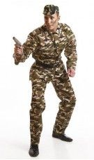 Disfraz de Militar Camuflaje adulto