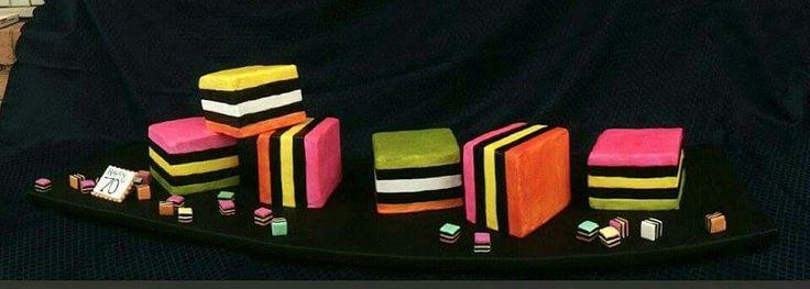 Licorice all sorts cake