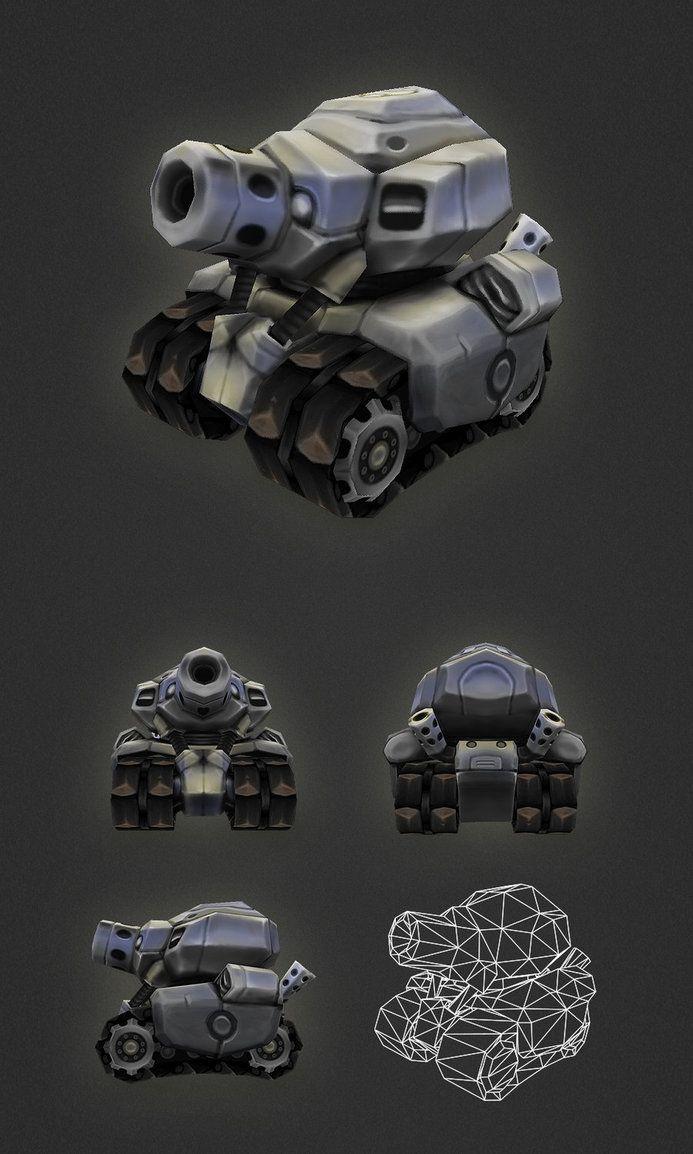 Low Poly Micro Tank by bitgem on deviantART