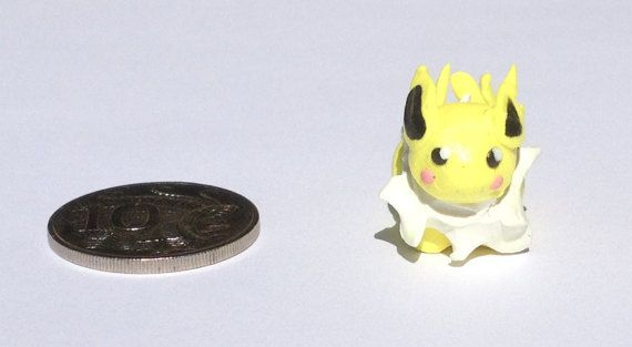 Polymer clay Jolteon figurine by PolymerParrot on Etsy