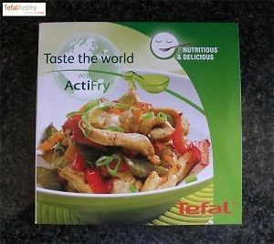 Tefal Actifry Taste the World Recipes on CD - 166 pages & repair instructions