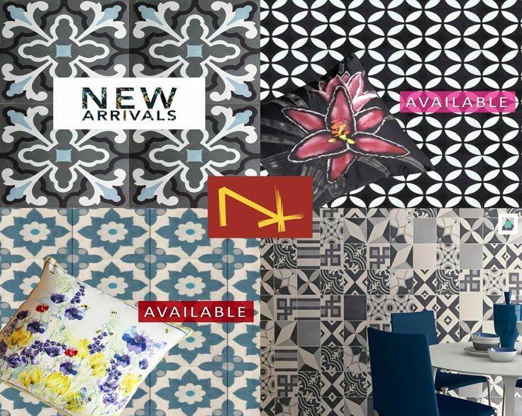 Spice up your home with some colour and pattern using our pattern Marrakesh Cement Tiles. #tiles #tiledesign #patterntiles #cementtiles #porcelaintiles #newtiles #interiordesign #bathroomideas #kitchensplashback #NerangTiles