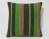 18x18 green decorative throw pillow black cheap decorative pillows european kilim pillows woven large sofa throws boho kilim cushions cover