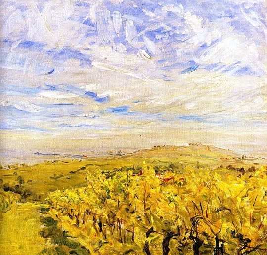 Max Slevogt - Early Autumn in the Palatinate - Vineyards near Neukastel, 1927