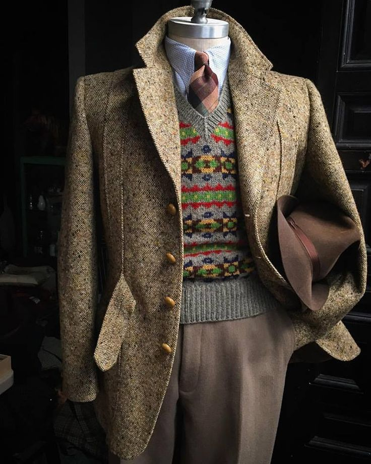 512 best Tweed images on Pinterest   Outfit, Clothing and Men fashion