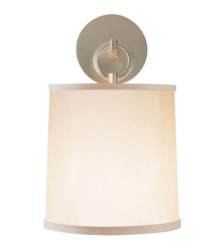 Visual Comfort KW 2047PN-WG Kelly Wearstler Modern Utopia Small Double Bath Sconce in Polished Nickel with White Glass