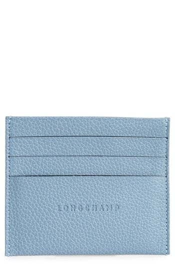 4ce9b02801e Longchamp 'Le Foulonne' Pebbled Leather Card Holder in 2019 | Womens ...