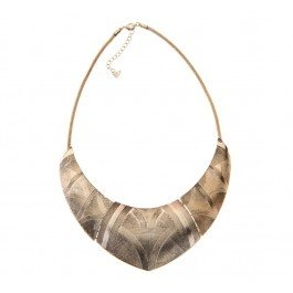Add a touch of tribal glam to your look with this etched plate collar necklace. Team with a pair of denim jeans, a loose patterned print shirt and you are set.