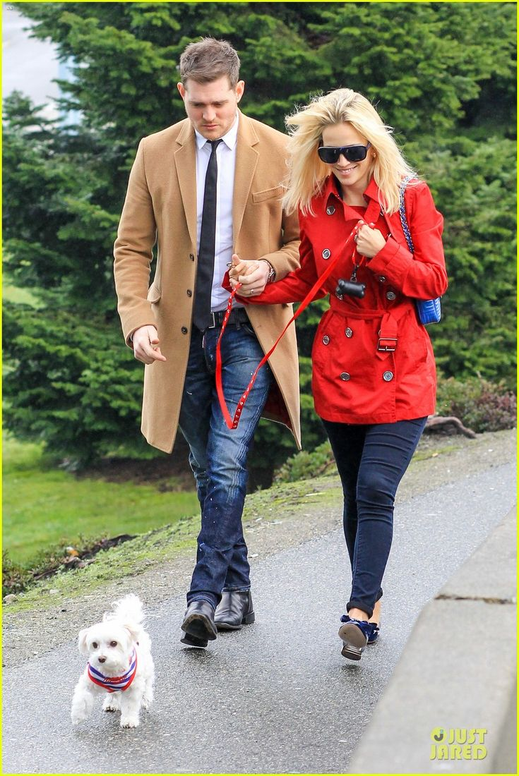 Michael Buble with his wife Luisana Lopilato and their pet pooch Simon