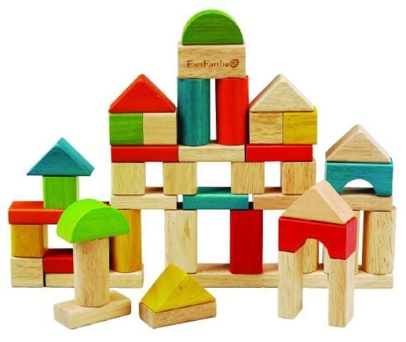 Ever Earth  50pcs Building Block Set with Bucket  50 quality, smooth building blocks in a variety of sizes and colours can boost your child's creativity and dexterity as they learn to build from their imagination. Comes in a bucket with sorter lid     AGE: 2 year +  Great Value Item