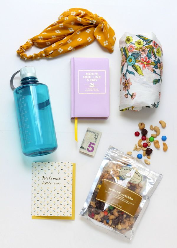 Make a care package for a new mom with products she can use and enjoy.