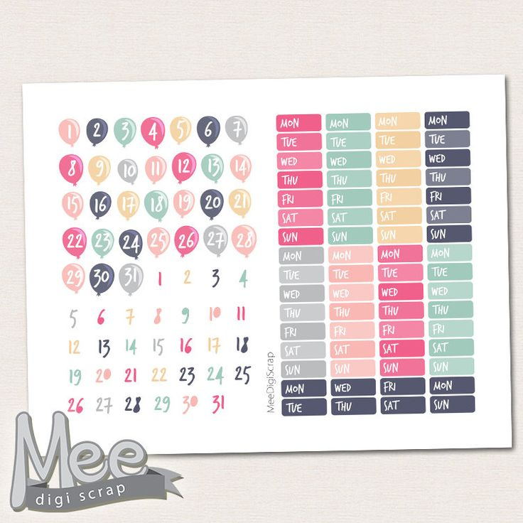 Date cover stickersprintable planner stickersnew years party stickersballoon stickerdate cover m