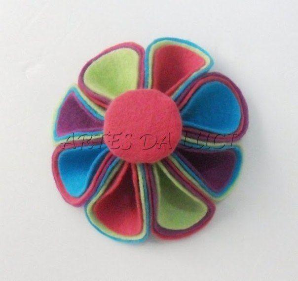 TUTORIAL- Handmade-kursy ,wzory ,tutoriale: Kwiaty z filcu
