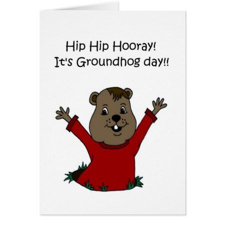 Hooray its Groundhog Day 2 Card - tap, personalize, buy right now!