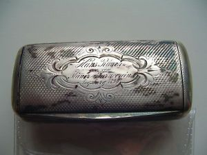 antike-Schnupftabakdose-Tabattiere-aus-Silber-800-aus-Augsburg-1890 - Snuff box
