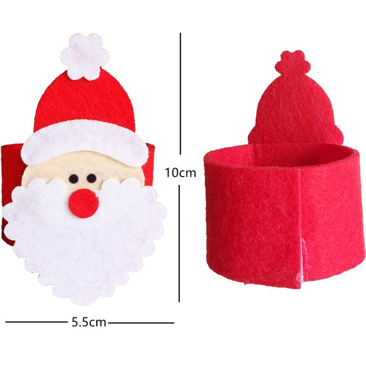8Pcs/bag Creative handmade Santa Claus Christmas Knives and Forks Pockets Candy Gift Bags Cover Clothes Home Tableware Holder